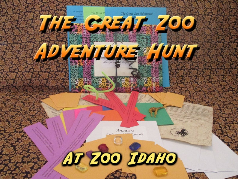 Scavenger Hunt  Zoo Idaho Adventure Hunt  The Great Zoo image 0
