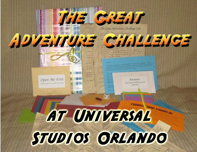 Scavenger Hunt Adventure  Universal Orlando  The Great image 0