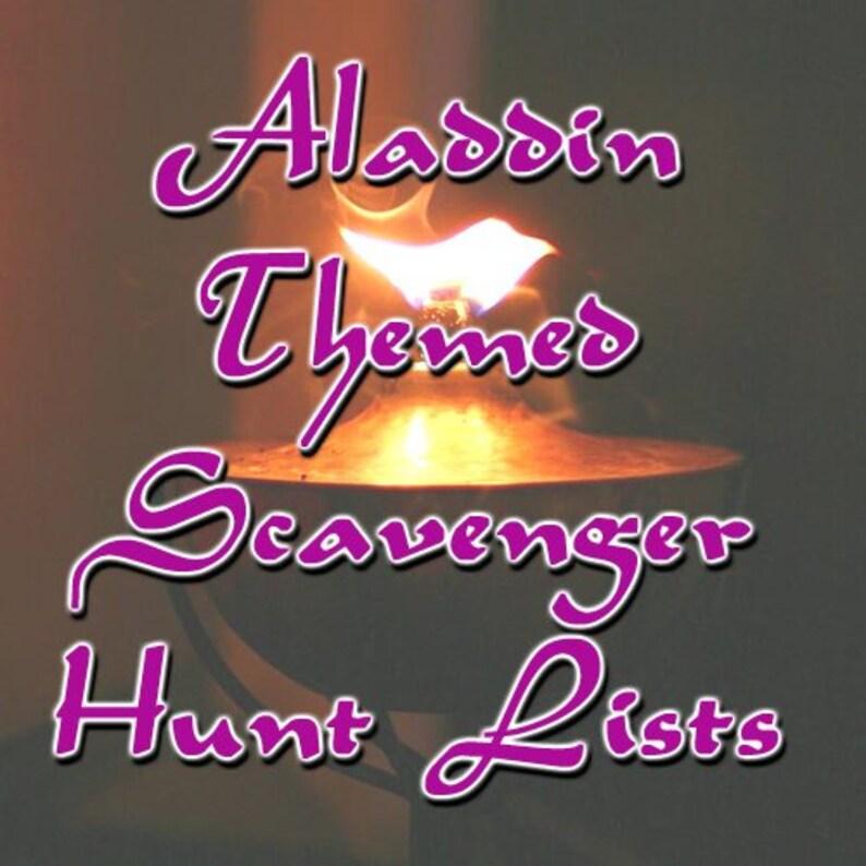 Aladdin / Arabian Themed Scavenger Hunt List Collection image 0