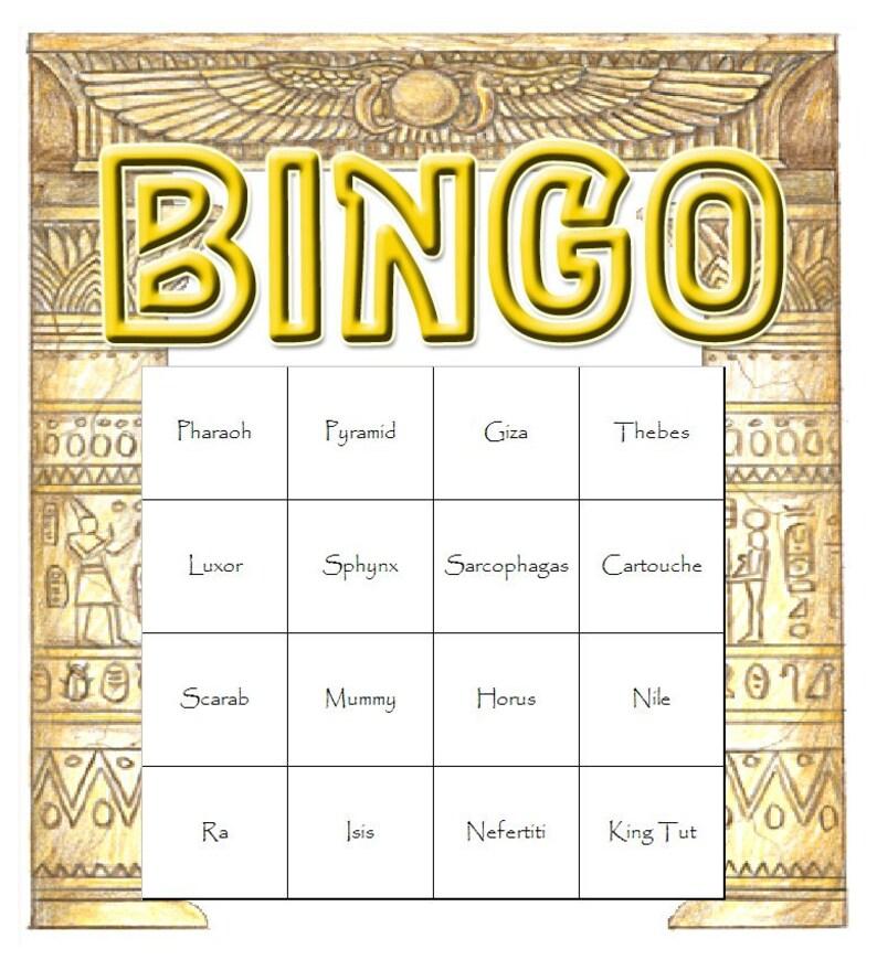 Egyptian Themed Bingo Set image 0