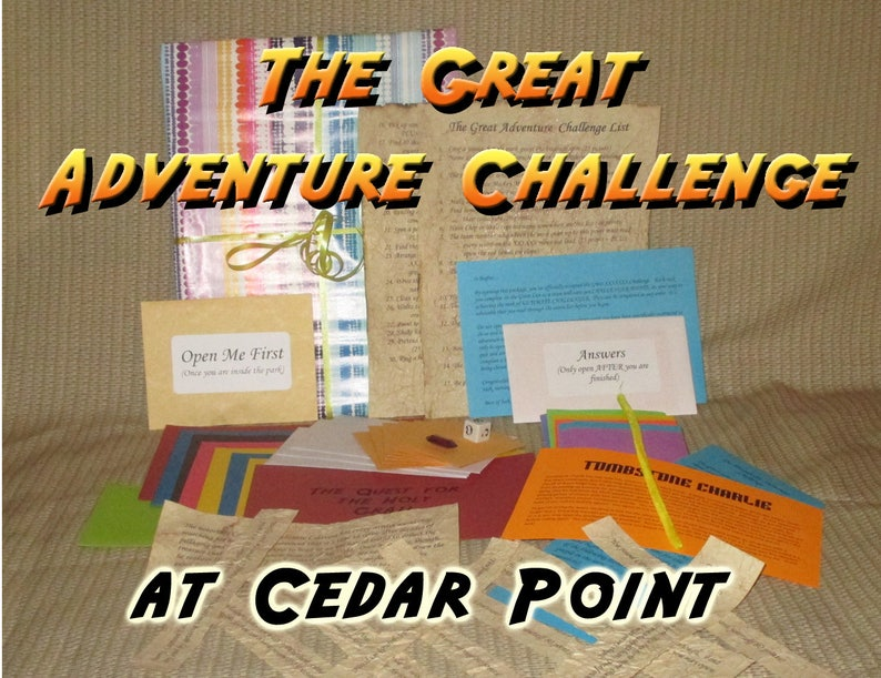 Scavenger Hunt Adventure  Cedar Point  The Great Adventure image 0