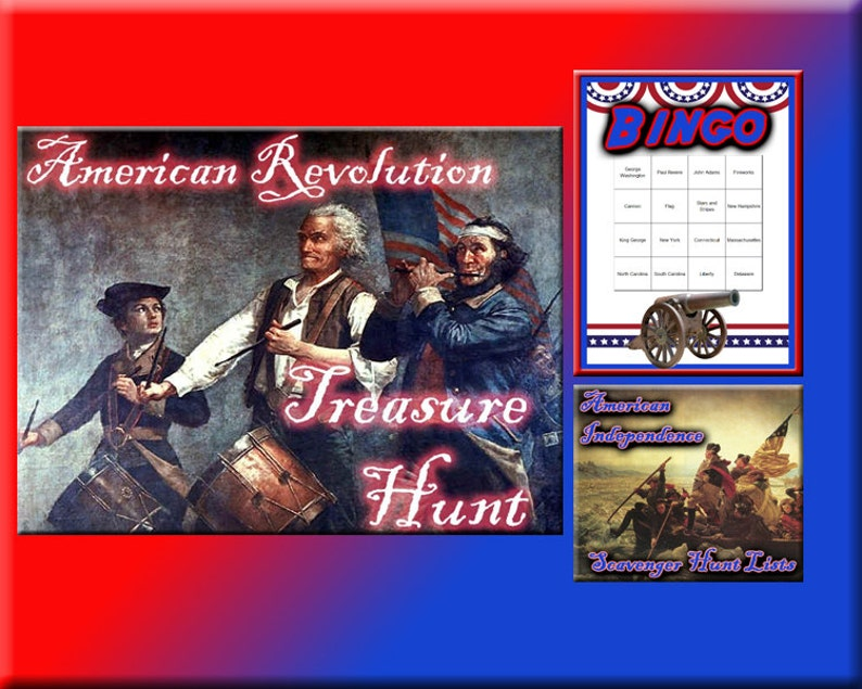 3 4th of July Party Game Downloads  American Revolution image 0