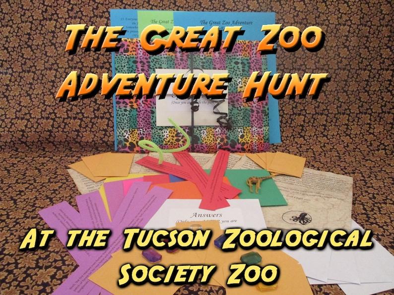Scavenger Hunt  Tucson Zoological Society Zoo Adventure Hunt image 0