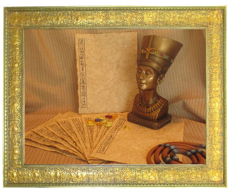 Egyptian Paper  Antiqued Paper with Heiroglyphs  10 Sheets image 0