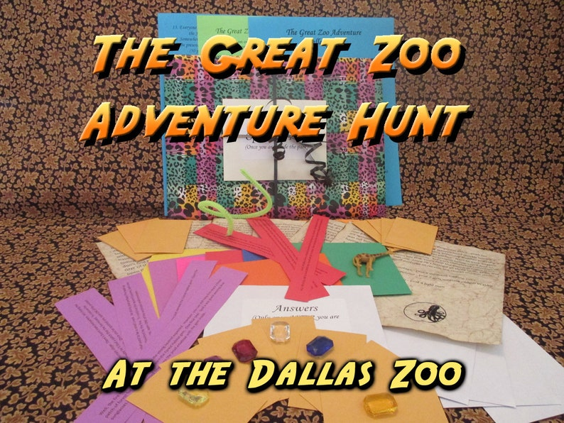 Scavenger Hunt  Dallas Zoo Adventure Hunt  The Great Zoo image 0