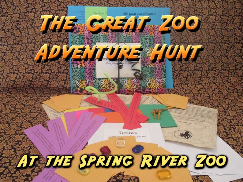 Scavenger Hunt  Spring River Zoo Adventure Hunt  The Great image 0