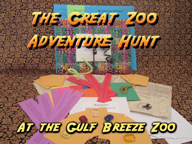 Scavenger Hunt  Gulf Breeze Zoo  Adventure Hunt  The Great image 0