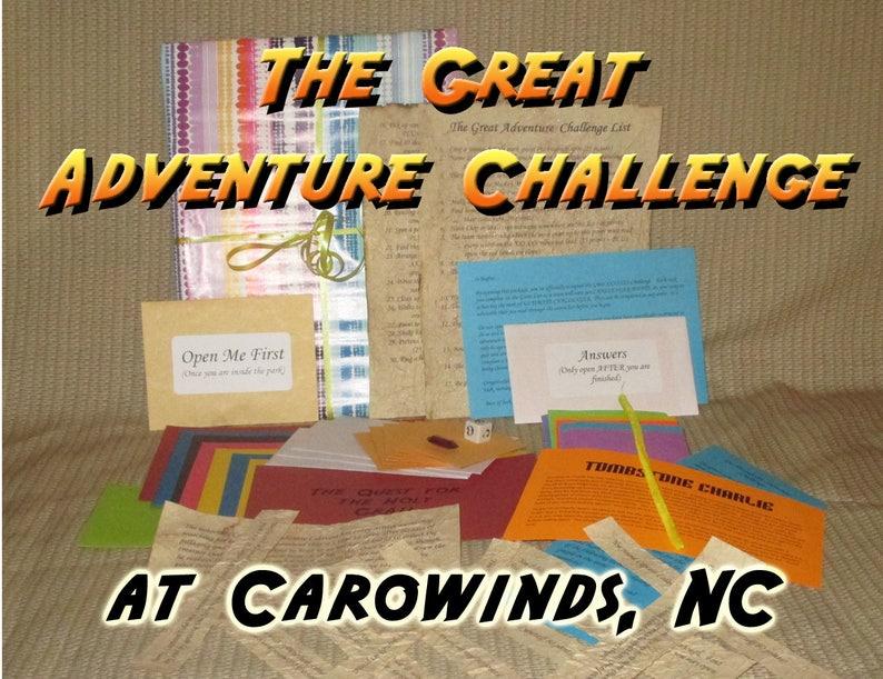 Scavenger Hunt Adventure  Carowinds Amusement Park  The image 0