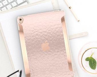 iPad Case . iPad Pro 10.5 . Pink Chrome Alligator iPad Case and Rose Gold Detailing iPad Pro 9.7 Smart Keyboard compatible Hard Case