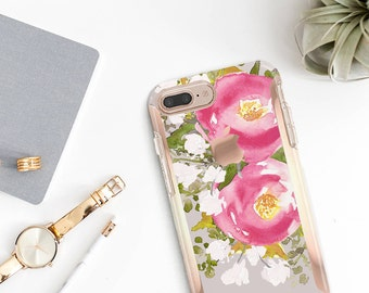 Pink Blossom  Hard Case Otterbox Symmetry                . iPhone X . iPhone Xs Max . iPhone XR . iPhone 8 . PopSocket