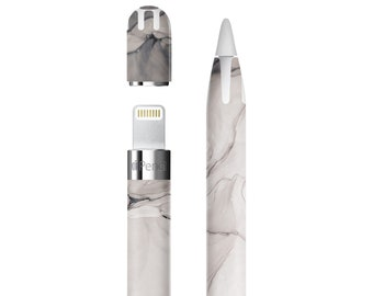 Nude Charcoal Ink Marble Vinyl Skin Decal for Apple Pen . Apple Pencil 2 . Apple Pencil