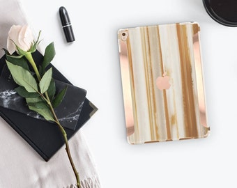 iPad Case . iPad Pro 10.5 . Agata Venata Marble iPad Case and Rose Gold Detailing iPad Pro 9.7   Smart Keyboard compatible Hard Case