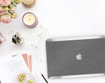 Platinum Edition . Macbook Pro 13 Case Brushed Steel Macbook Case. Distinctive Macbook Hard Case and Bold Silver Accents . Brushed Grey