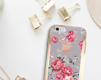 Richmond Rose Gray  Hard Case Otterbox Symmetry                . iPhone X . iPhone Xs Max . iPhone XR . iPhone 8 . PopSocket