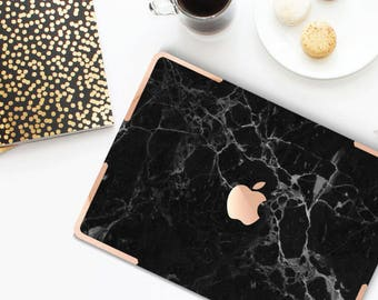 Platinum Edition . Macbook Pro 13 Case Chic Black Marble . Distinctive  .   Macbook Pro 13 A2251 A2338 . Pro 16 Touch A2141 . A2337