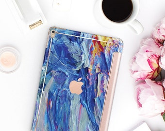 Nicole's Autumn with Rose Gold Smart Cover Hard Case for    iPad Pro  . New iPad 9.7 2018  . New iPad Pro 12.9 2018 . iPad Pro 11""