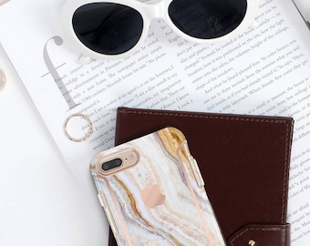 Pina Onyx and Rose Gold Case Otterbox Symmetry            Collection  . iPhone X . iPhone Xs Max . iPhone XR . iPhone 8 . PopSocket