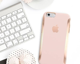 Pink Rose Gold iPhone 8 Case iPhone 8 Plus Case iPhone X Pink Rose Gold and Rose Gold Hard Case Otterbox Symmetry