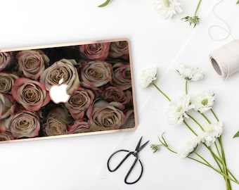 Rose Rustique                 . Distinctive Macbook Hard Case and Bold Rose Gold Accents . Macbook Pro 13 Case . Custom Monogram