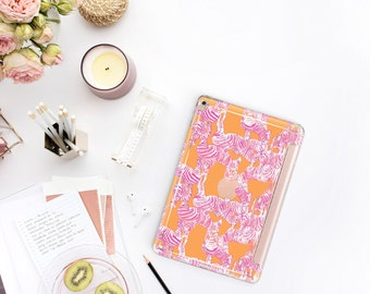 "Zebra with Rose Gold Smart Cover Hard Case  Lilly Pulitzer Inspired . iPad Pro 12.9"" 2020 .  iPad Pro 11"" . iPad Air 10.5 . iPad Pro  2020"