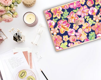 Havana Nights and Rose Gold Edge . Lilly Pulitzer Inspired . Vinyl Skin Microsoft Surface Book 2  Surface Laptop 2 Surface Pro 6  Surface Go