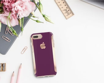 Purple Davenport Rose Gold   Hard Case Otterbox Symmetry. iPhone X . iPhone Xs Max . iPhone XR . iPhone 8 . PopSocket