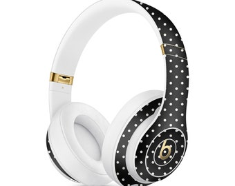 Small Polka Vinyl Skin Decal for Apple Beats Studio 3 A1914  . Apple Beats Solo 3 A1796 Wireless . PowerBeats 3 . Custom Monogram