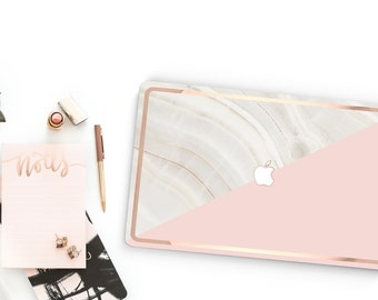 Platinum Edition . Macbook Pro 13 Case Marble Stone  Pink       . Distinctive  .   Macbook Pro 13 A1989 A2159 . Pro 16 Touch A2141 . A1990