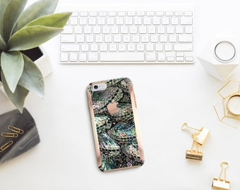 Abalone Shell Medley with Rose Gold   Hard Case Otterbox Symmetry         . iPhone X . iPhone Xs Max . iPhone XR . iPhone 8 . PopSocket
