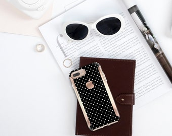 Brushed Polka Dot  Case  Plus Case iPhone SE 2020   Kate Spade Inspired   Rose Gold Case   Otterbox Symmetry
