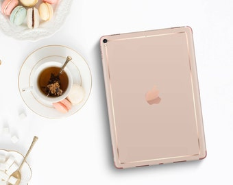 Toasted Wheat with Rose Gold Detailing Vinyl Skin Decal for the iPad Air 2, iPad mini 4 , iPad Pro - Platinum Edition