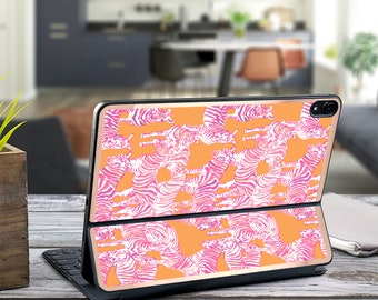 "Zebras on the loose and Rose Gold Vinyl Skin Decal . Lilly Pulitzer Inspired .  Apple Smart Keyboard Folio iPad Pro 11"" . iPad Pro 12.9"""