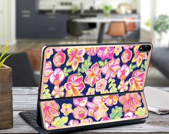 Havana Nights and Rose Gold Vinyl Skin Decal . Lilly Pulitzer Inspired .  Apple Smart Keyboard Folio Magic Keyboard  . iPad Pro 12.9""