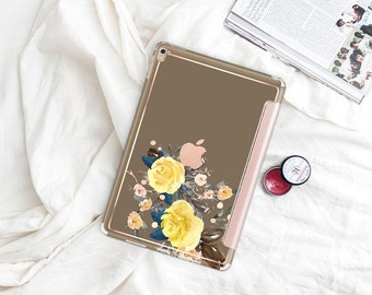 "Moss with Rose Gold Smart Cover Hard Case . iPad Pro 12.9 2018 . iPad Pro 11"" . iPad Air 10.5"". iPad Mini 5 . Custom Monogram"