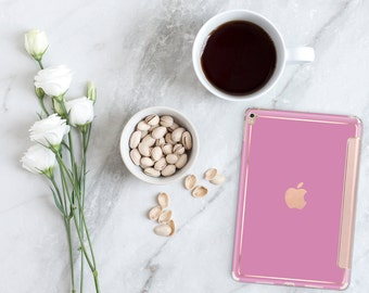 "Soft Purple with Rose Gold Hybrid Smart Cover Hard Case for the      iPad 9.7 2018.  iPad Pro 12.9 2018 . iPad Pro 11"" . iPad Air 10.5"""
