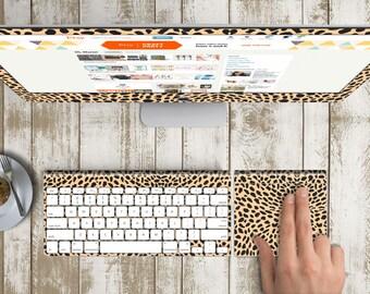 "Sudan Silk Vinyl Skin for iMac 21.5""  . iMac 27"" 5k (Includes Wireless Apple Keyboard / Apple Magic Touchpad / Foot). Monogram"