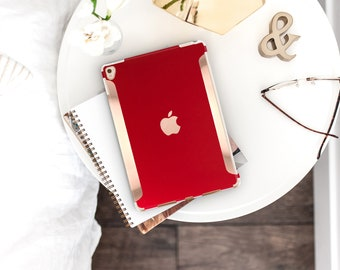 "iPad Lipstick Red    and Rose Gold    Smart Keyboard Compatible Hard  . iPad Air 10.5"" . iPad Mini 5 . iPad Pro 10.5"""