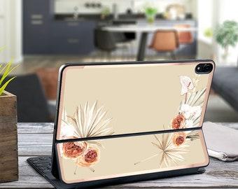 "Boho tropical in Bone Background and Rose Gold Vinyl Skin Decal - Apple Smart Keyboard Folio iPad Pro 11"" . iPad Pro 12.9"" . iPad Air 10.5"