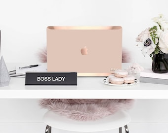 Macbook Pro 13 Case Macbook Air Case Laptop Case Macbook Case . Toasted Wheat with Rose Gold Chrome Edge            - Platinum Edition
