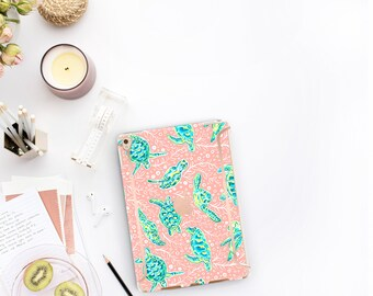 "Sea Turtle and Rose Gold Accents . Lilly Pulitzer Inspired . Smart Keyboard compatible Hard . iPad Air 10.5"" . iPad Mini 5 iPad Pro 10.5"""