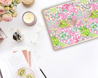 Pineapple and Rose Gold Edge . Lilly Pulitzer Inspired . Vinyl Skin Microsoft Surface Pro X , Surface Laptop 3 Surface Pro 7 . Surface Go