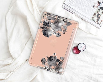"Desert Sand with Rose Gold Smart Cover Hard Case . iPad Pro 12.9 2018 . iPad Pro 11"" . iPad Air 10.5"". iPad Mini 5 . Custom Monogram"