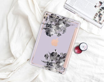 "Frozen Lilac with Rose Gold Smart Cover Hard Case . iPad Pro 12.9"" 2020 . iPad Pro 11"" . iPad Air 10.5"". iPad Pro  2020 . Custom Monogram"