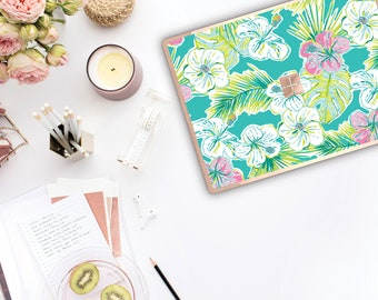 Tropical Paradise and Rose Gold Edge . Lilly Pulitzer Inspired . Vinyl Skin Microsoft Surface Book 2 , Surface Laptop 2 Surface Pro 6