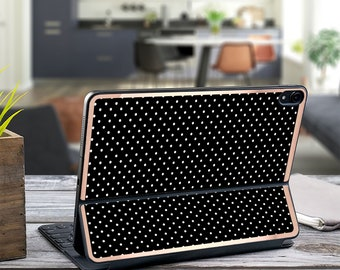"Polka Dot and Rose Gold Vinyl Skin Decal . Kate Spade Inspired . Apple Smart Keyboard Folio iPad Pro 11"" . iPad Pro 12.9"" . iPad Air 10.5"""