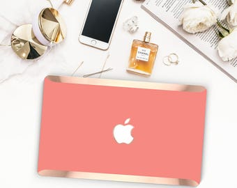 Platinum Edition . Macbook Pro 13 Case Chic Guava Coral Macbook Hard Case . Distinctive  .   Macbook Pro 13 A1989 A2159 . Pro 16 Touch A2141