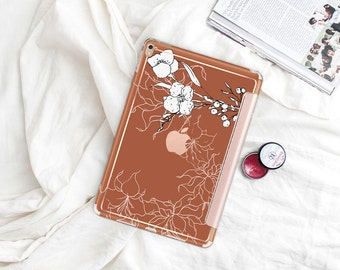 "Saddle with Rose Gold Smart Cover Hard Case . iPad Pro 12.9 2018 . iPad Pro 11"" . iPad Air 10.5"". iPad Mini 5 . Custom Monogram"