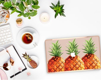 PineApple                  . Distinctive Macbook Hard Case and Bold Rose Gold Accents . Macbook Pro 13 Case . Custom Monogram