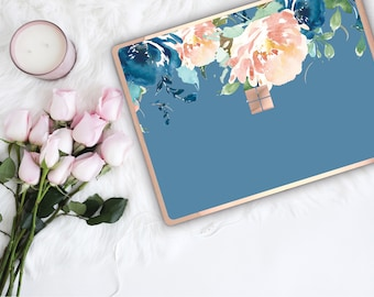 Rackley Flowerly Collection and Rose Gold Edge Vinyl Skin Microsoft Surface Book 2 , Surface Laptop 2 , Surface Pro 6 . Surface Go