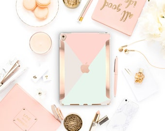 "iPad Pastel Shades  Rose Gold   Smart Keyboard compatible Hard  . iPad Air 10.5"" . iPad Mini 5 . iPad Pro 10.5"""